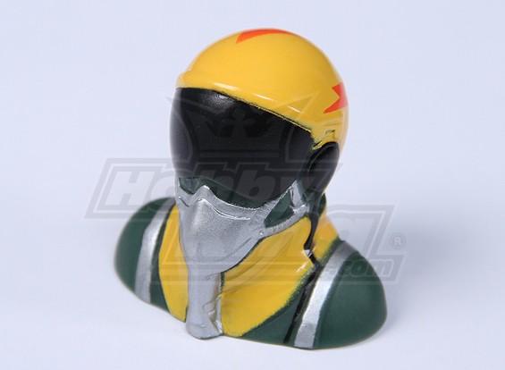 Jet Pilot (amarelo) (H38 x W40 x D25mm)