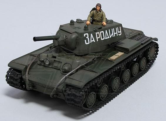 KV-1 Tanque soviético RTR w / TX / Som / Infrared