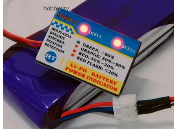 Li-Po Indicador de energia 2S