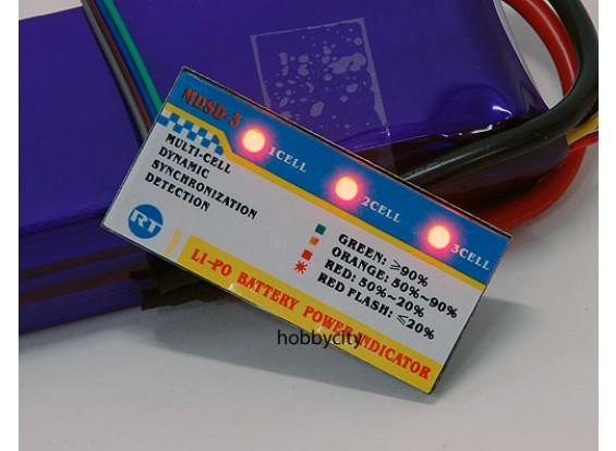 Li-Po Indicador de energia 3S