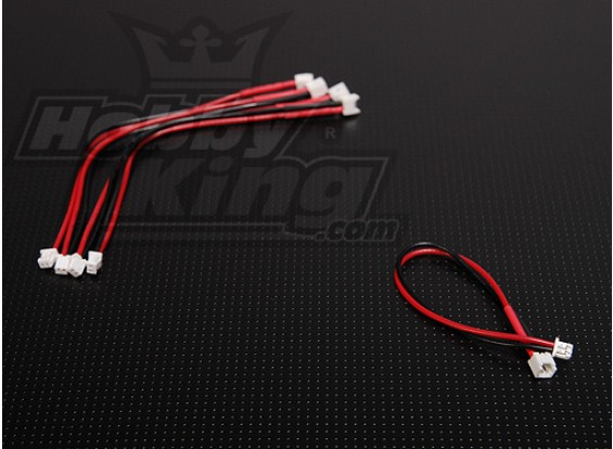 Mini plug Extensão para 10 centímetros Micro Bateria (5pcs / bag)