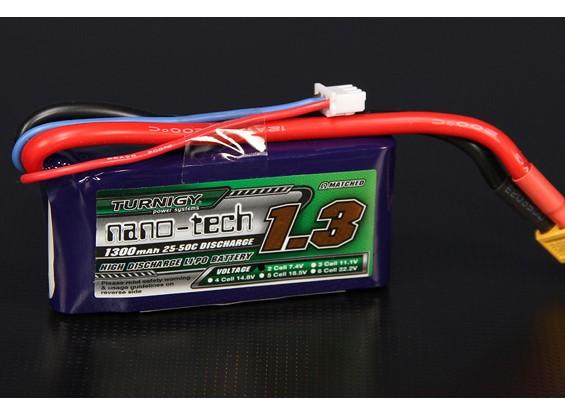 Turnigy nano-tecnologia 1300mAh 2S 25 ~ 50C Lipo pacote