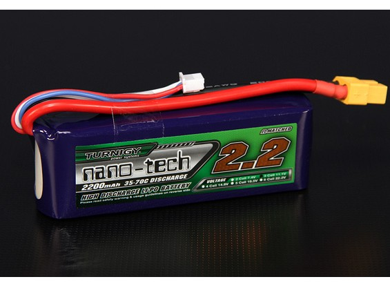 Turnigy nano-tecnologia 2200mAh 3S 35 ~ 70C Lipo pacote