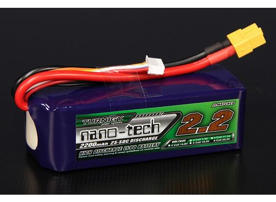 Turnigy nano-tecnologia 2200mAh 6S 25 ~ 50C Lipo pacote