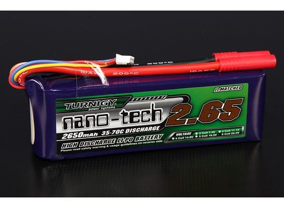 Turnigy nano-tecnologia 2650mAh 6S 35 ~ 70C Lipo pacote