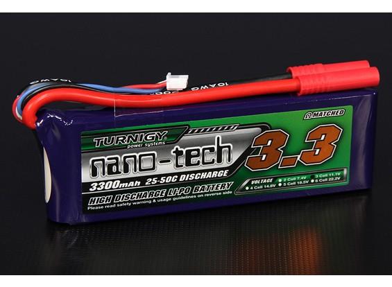 Turnigy nano-tecnologia 3300mAh 3S 25 ~ 50C Lipo pacote