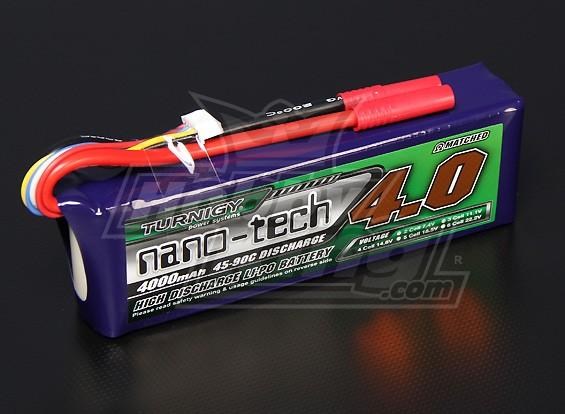 Turnigy nano-tecnologia 4000mAh 4S 45 ~ 90C Lipo pacote