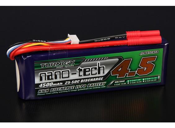 Turnigy nano-tecnologia 4500mAh 4S 25 ~ 50C Lipo pacote