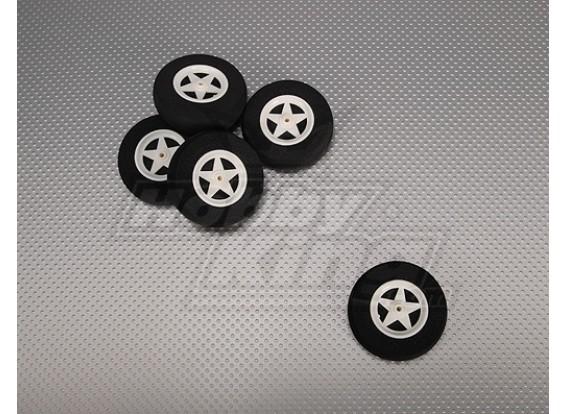 5 raio roda de absorção de choque D60xH18mm (5pcs / bag)