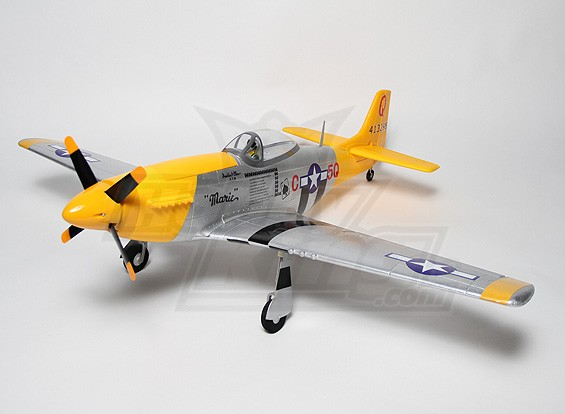 P-51D Mustang 1.2m EPO com Auto Canopy (P & P)