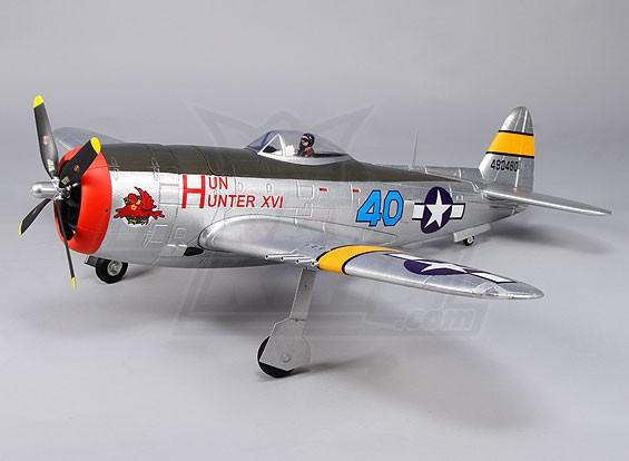 Durafly ™ P-47 Thunderbolt w / abas / retrai / acende 1.100 mm (PNF)