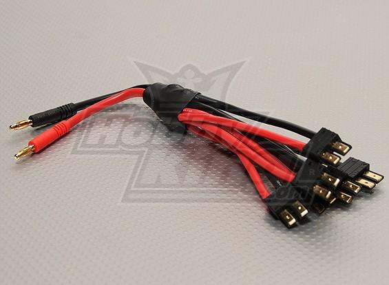 4 milímetros plug banana de 6 x TRX plug Compatível em paralelo