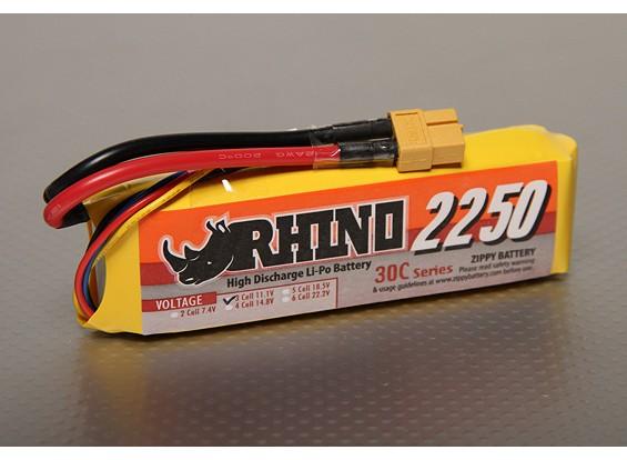 Rhino 2250mAh 3S1P 30C Lipoly pacote