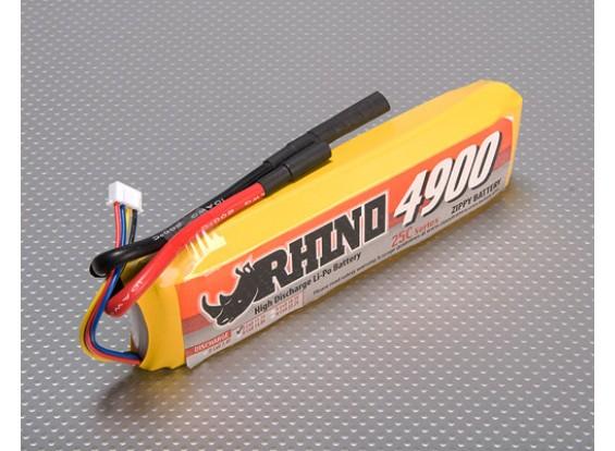 Rhino 4900mAh 3S1P 25C Lipoly pacote