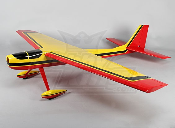 Cat Racer 60 Balsa 1,600 milímetros Brilho (Amarelo) (ARF)