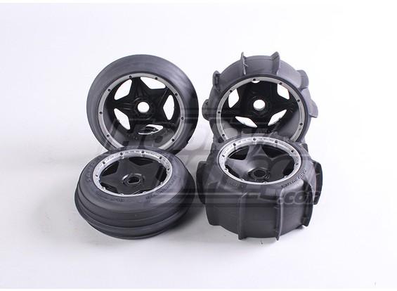 Roda de areia e jogo de pneus (4Pcs / Set) - 260 e 260S