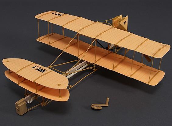 Rubber Band Alimentado Freeflight Wright Flyer 490 milímetros Span