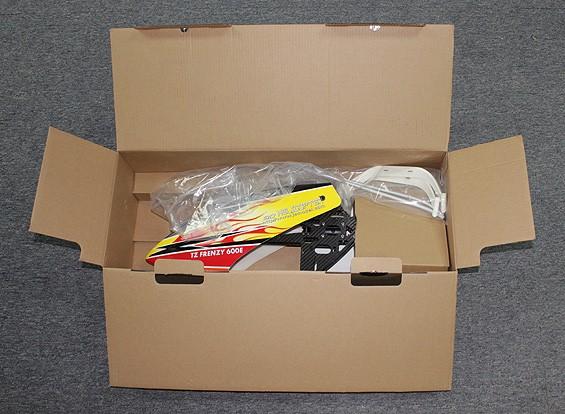RISCO / DENT - TZ Frenzy Kit helicóptero 600E DFC Flybarless Elétrica 3D
