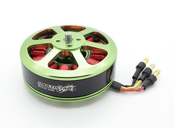 RISCO / DENT - 5008-340KV Turnigy Multistar Multi-rotor do motor com 3.5 mm de bala Conector Instalado
