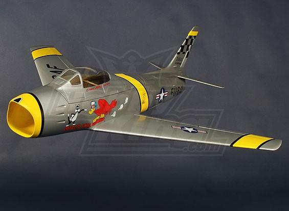 F86 Sabre USAF 90 milímetros EDF Jet 1038 milímetros de fibra de vidro (ARF)