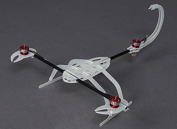 Hobbyking® ™ Y4 Scorpion fibra de vidro Micro Multi-Rotor Quadro 320 milímetros x 220 milímetros w / Motors