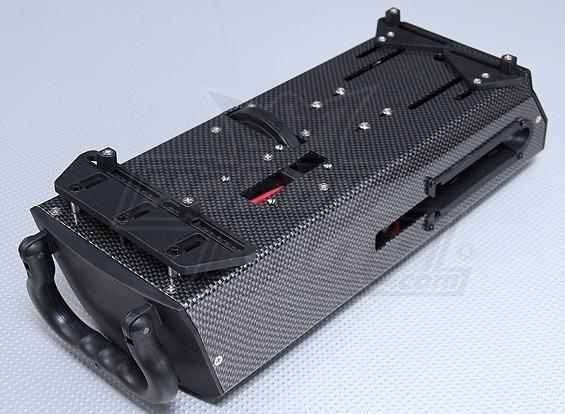 Fibra de Carbono Estilo Caixa de Starter 12v (1/10 & 1/8 Nitro Car)