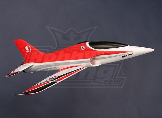 Stinger 64 EDF Desporto Jet 700 milímetros Red EPO (RTF - Modo 2)
