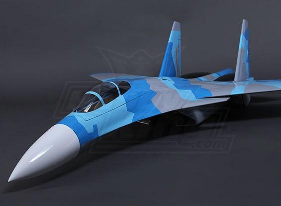90 milímetros SU-37 Composite gêmeo EDF Jet 1200 mm (ARF)