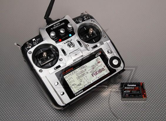 Futaba 10CHG 2.4GHz w / R6014HS Receiver (Modo 1)