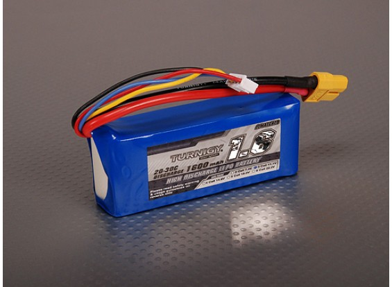 Turnigy 1600mAh 3S 20C Lipo pacote