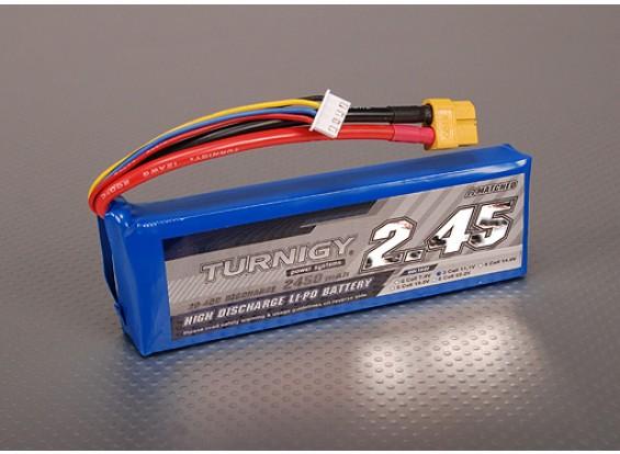 Turnigy 2450mAh 3S 30C Lipo pacote