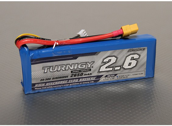 Turnigy 2650mAh 3S 20C Lipo pacote