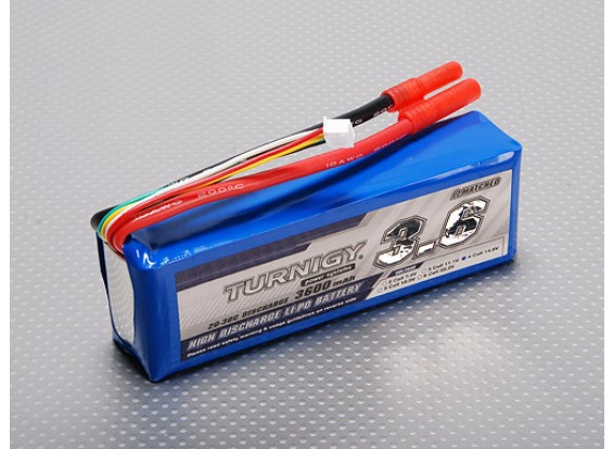 Turnigy 3600mAh 4S 20C Lipo pacote