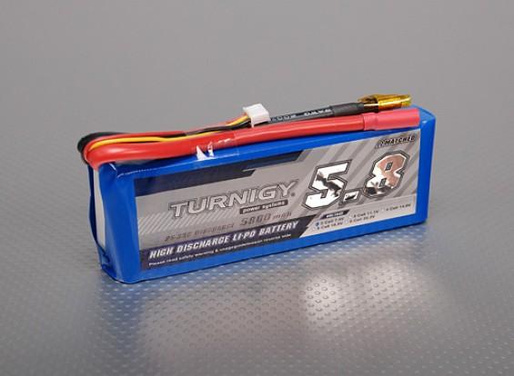 Turnigy 5800mAh 2S 25C Lipo pacote