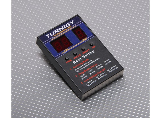 Cartão de programação Turnigy Speed Controller