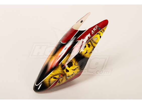 High-End Airbrushed Canopy para 450 tamanho Heli