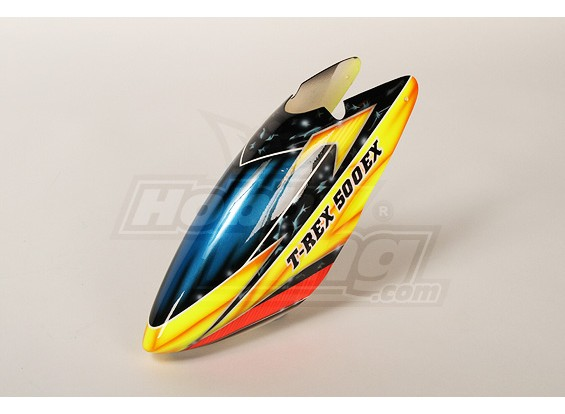 High-End Airbrushed Canopy para 500 tamanho Heli