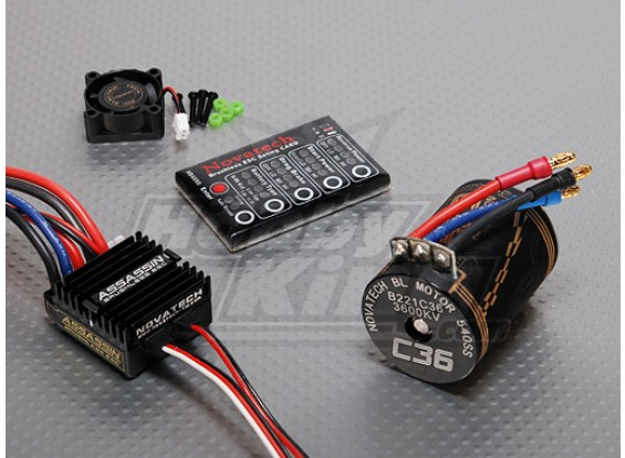 3600kv Brushless Power System Car / 35A