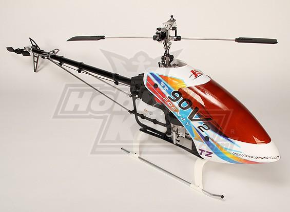 TZ-V2 0,90 Tamanho Nitro 3D Kit Helicopter (Torque Tube)