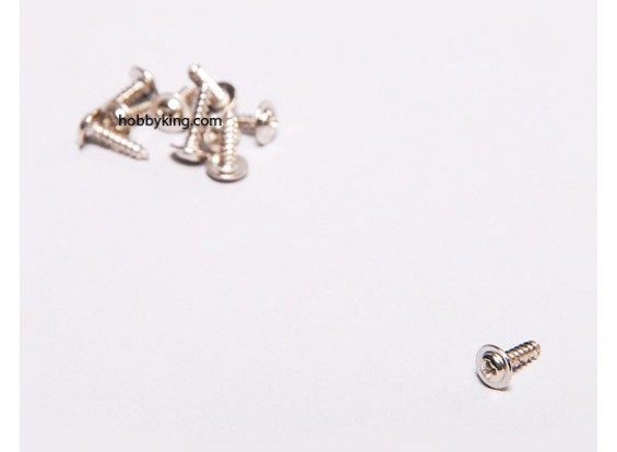 Auto Tapping Screw M2x8mm Phillips w / ombro (10pcs)