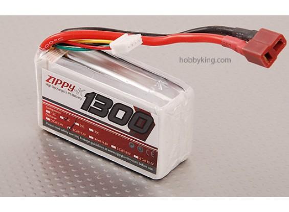 Zippy-K 1300 pacote 3S1P 20C Lipo