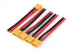 XT60 masculino w / 12AWG Silicon fio 10 centímetros (5pcs / bag)