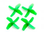 35mm 4-Blade Propeller (2CCW, 2CW) (Green)