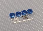 Adaptadores de rodas de alumínio azul com parafusos de fixação - 4 milímetros (12 milímetros Hex)