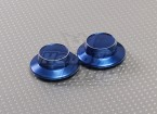 Azul Alumínio Hubcap (23 milímetros Hex Adapter)