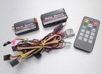 Hobbyking Sistema OSD (Combo Full): placa principal, módulo de alimentação, USB / GPS / IR / Temp Módulos w / Remote