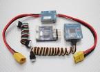 Baquelite FPV controlador de vôo Sistema OSD / GPS / RHT / Barômetro