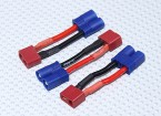 EC3 a T-Connector Adapter Bateria (3pcs / saco)