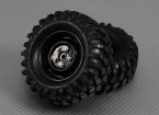 1/10 Crawler 96 milímetros roda & pneu 12 milímetros Hex (2pc)