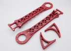 Hobbyking SK450 substituição Arm Set - Red (2pcs / bag)
